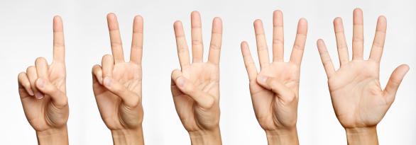hand gesture, three fingers
